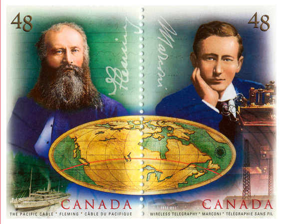 """Transatlantic Cable"" Stamp Illustration for Canada Post"