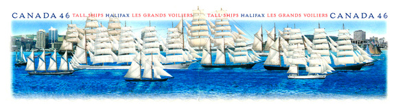 """Tall Ships"" Stamp Illustration for Canada Post"