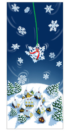 Snowflake in Safety Harness Xmas Card